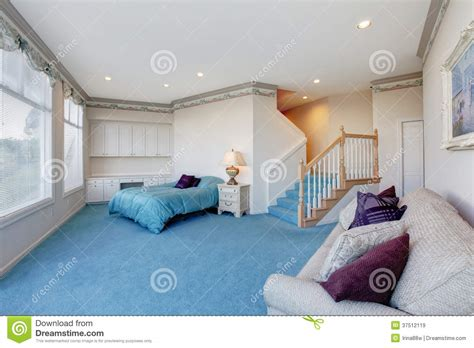blue and white bedroom walls amazing light blue and white bedroom with glass wall stock image image 37512119