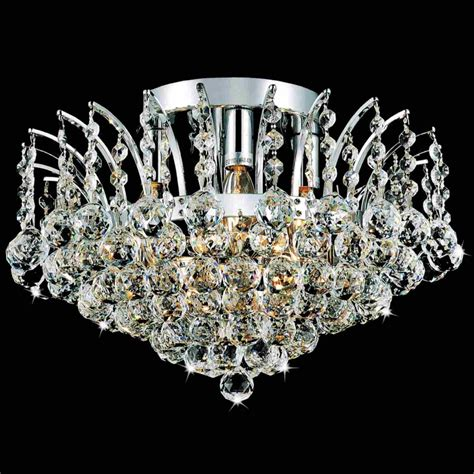 Flush Mount Chandeliers Brizzo Lighting Stores 16 Quot Flush Mount Chandelier Chrome Gold 4 Lights