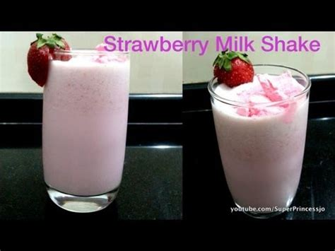 strawberry milkshake at home recipe cool summer