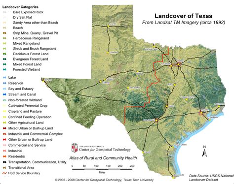 geography of texas map physical landscape