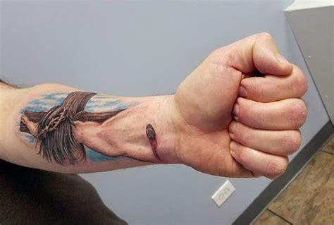 jesus hand tattoo 3d mens wrist jesus crucifix tatuagens tema