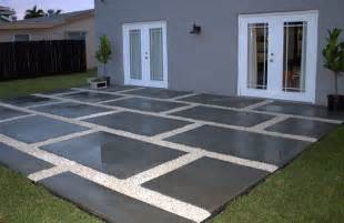 Concrete Pavers For Patio Create A Stylish Patio With Large Poured Concrete Pavers