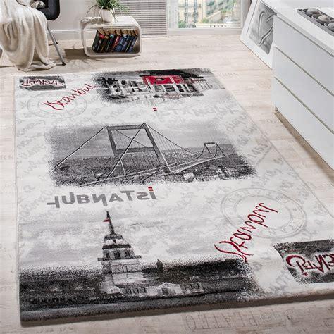 designer teppich istanbul motiv modern wohnzimmerteppich