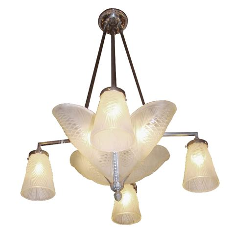 1930 S Jean Noverdy French Art Deco Pine Cone Chandelier Pine Cone Chandelier