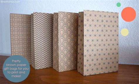 printable paper bags free printable gift bags pretty patterned paper bags