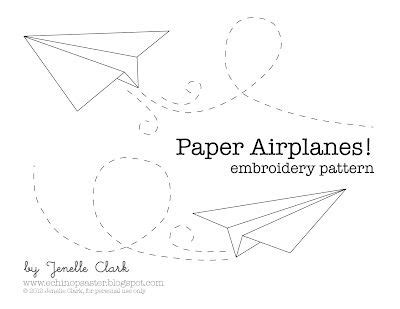 pattern paper airplane free paper airplane embroidery pattern blue is for boy