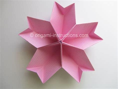 Easy Origami Kusudama Flower - origami cherry blossom alfaomega info