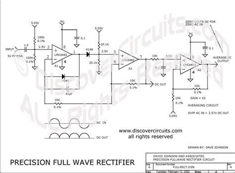 rectifier circuit in pdf circuit precision fullwave rectifier circuit designed by david a johnson p e