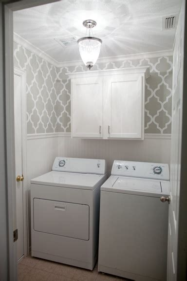 laundry room wallpaper laundry room with wallpaper wainscoting the after photo of my laundry cottage style