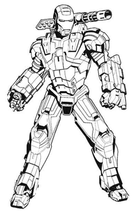Iron Man Machine Coloring Page Coloring Galore Iron 3 Coloring Pages