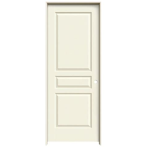 Jeld Wen Prehung Interior Doors by Jeld Wen 32 In X 80 In Avalon Vanilla Painted Left