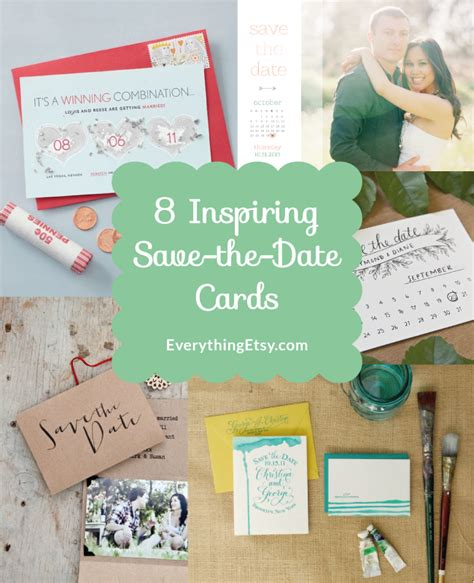 7 Inspiring Date Ideas 8 inspiring save the date cards diy weddings