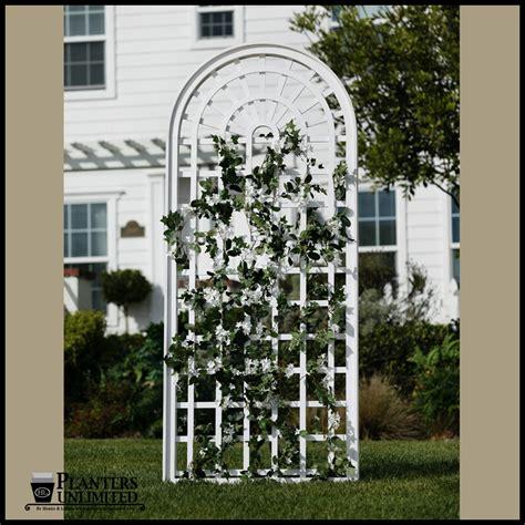 White Garden Trellis Composite Pvc Trellises Amp White Trellises And Garden Screens