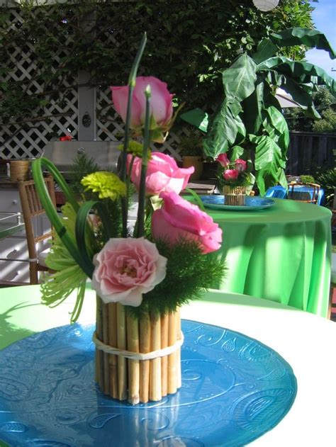 luau themed decorations 25 best ideas about hawaiian centerpieces on