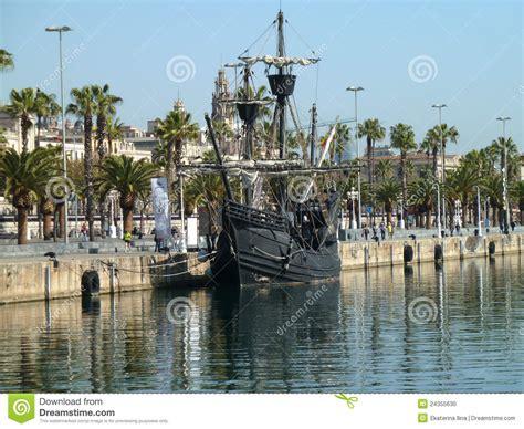 christopher columbus boat barcelona christopher columbus ships stock photo image of history