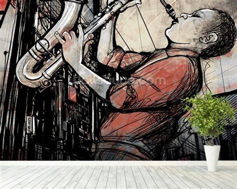 jazz wallpaper for walls jazz trumpet wallpaper wall mural wallsauce usa