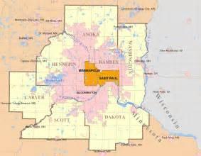 Twin Cities Metro Map saint paul minnesota familypedia
