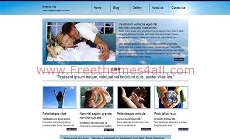 Free Family Care Blue Css Website Template Freethemes4all Free Family Website Templates