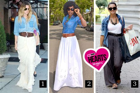 what shirt to wear with maxi skirt