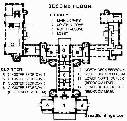 hearst castle floor plan san simeon second floor plan architettvra pinterest