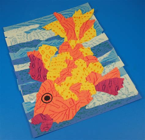 Paper Tearing Craft - fingers big construction paper crafts