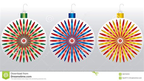 colorful tree ornaments ornaments 2015 stock vector image 58218453