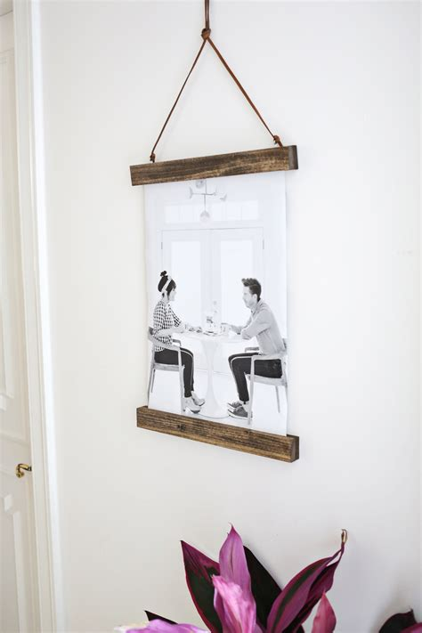 hanging picture ideas diy poster hanger a beautiful mess