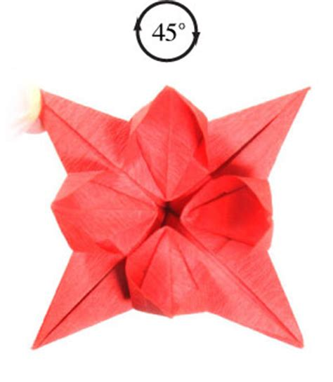 Origami 8 Petal Flower - how to make an eight petals origami flower page 24
