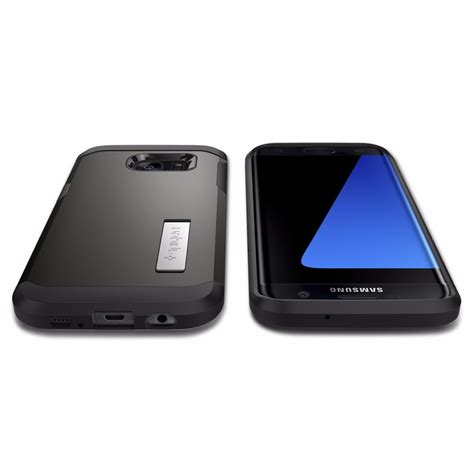 Spigen Tough Armor Samsung Galaxy S7 Edge Original Gunmetal funda galaxy s7 edge spigen tough armor 100 original 519 99 en mercado libre
