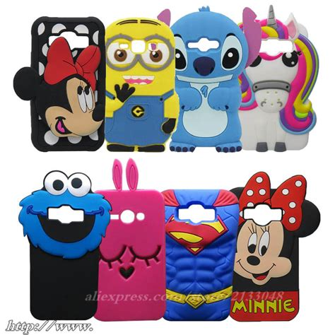 Samsung J1 Ace J110 Silicon 3d Disney Mickey Minnie Softcase Casing Hp for samsung galaxy j1 ace j110 phone 3d colorful unicorn silicone cover