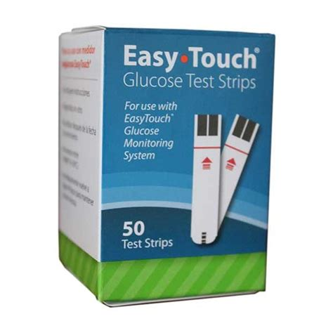Easy Touch Strips Blood Glucose easytouch glucose test strips 50 count diabetic outlet