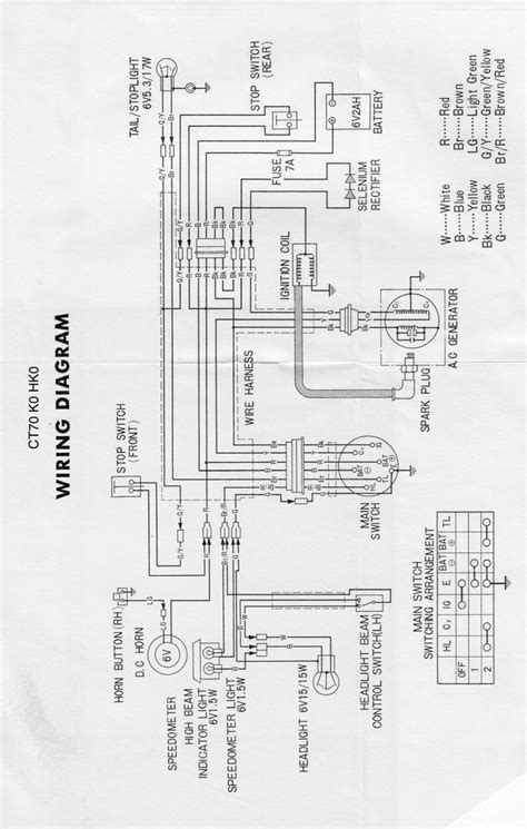 honda ct70 wiring diagram honda cm400a wiring diagram
