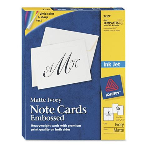 avery printable greeting cards avery printable embossed cards ave3259 shoplet com