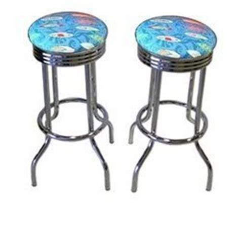 Themed Bar Stools 2 cave surf themed 29 specialty chrome
