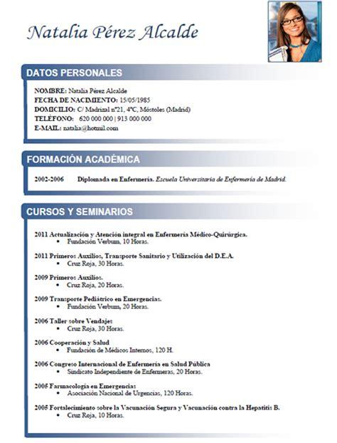Plantilla De Curriculum Vitae Clasico Elaboraci 243 N Curriculum De M 233 Dicos O Enfermeras Plantillas De Cv Para Hospitales Cvexpres