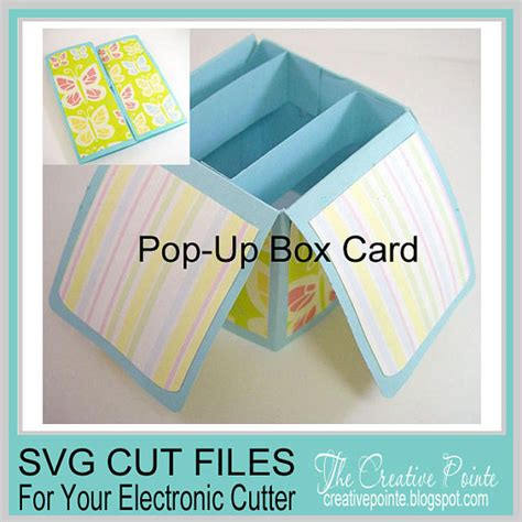 pop up box card template pop up box card svg cutting template only
