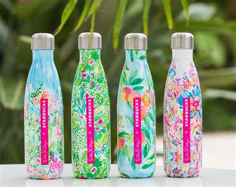 lilly starbucks lilly pulitzer s well bottles available at starbucks
