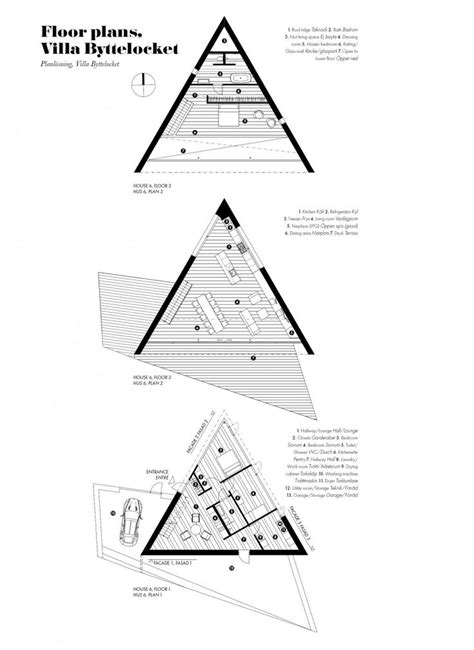 triangle floor plan klevens udde home with triangle shaped floor plan sweden
