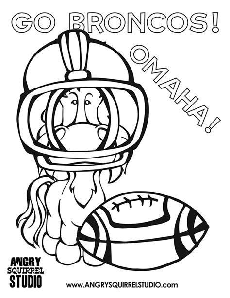 broncos coloring sheets denver broncos team mascot coloring sheets free coloring pages