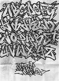 Graffiti Fonts Wildstyle Alphabet Letters