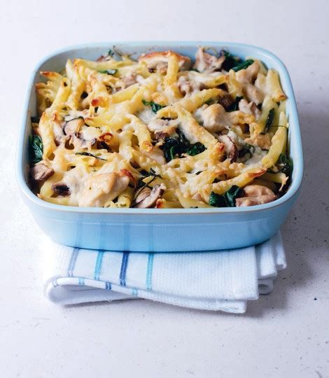 zizzi carbohydrates chicken and spinach pasta bake delicious magazine