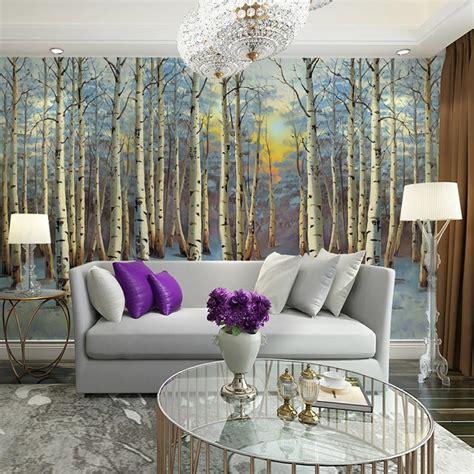 tree design wallpaper living room popular birch tree wallpaper buy cheap birch tree