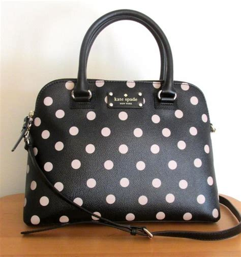 Kate Spade Rachelle Polka Black kate spade wellesley small rachelle purse bag black deco