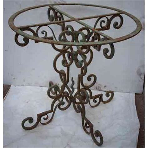 wrought iron pedestal table base wrought iron fancy table base 1543090