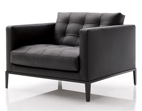 Armchair Leather Ac Lounge Chair Hivemodern Com