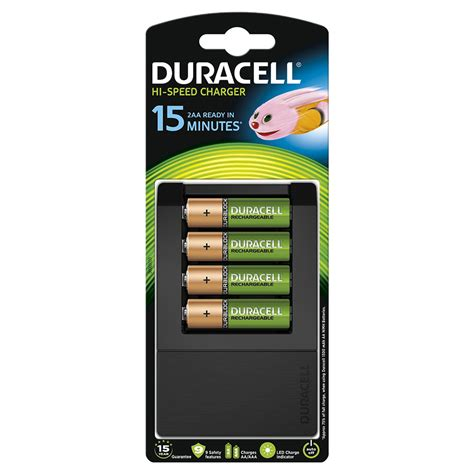 four aa batteries duracell fast 15 minute battery charger for aa aaa