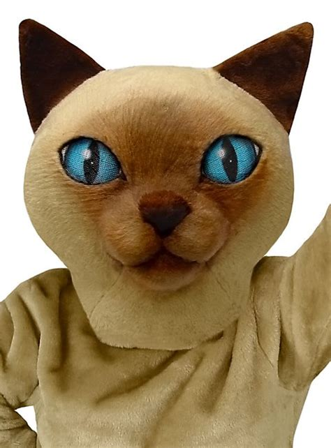 Cat Fresh Air Mask siamese cat mascot