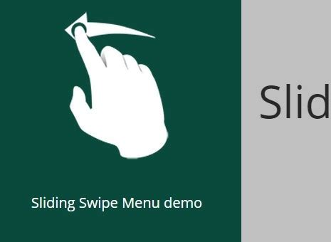 jquery swing animation simple jquery and jquery mobile based slide menu plugin