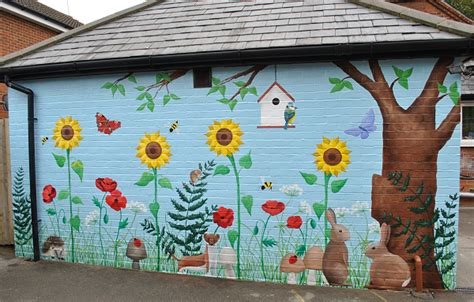 Exterior Nursery Garden Mural Inspired Spaces Garden Mural Ideas