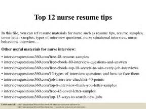 Top 12 Nurse Resume Tips